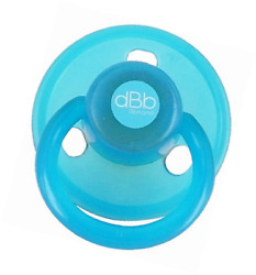 dBb RemondAnatomical Round Rubber Soothers Pack Turquoise 2-Count