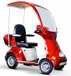eWheels EW-54 Buggie Canopy Windshield Fast Mobility 4 Wheel Scooter Red NO TAX