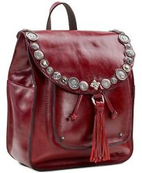 New Patricia Nash Women's Jovanna Backpack Oxblood Red Leather Tote Bag