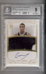 Rudy Gobert 13/14 National Treasures Auto Patch Rc 112 Serial 22/25 Bgs 9/10