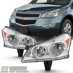 2009 2010 2011 2012 Chevy Traverse Ls And Lt Model Headlights Headlamps Left+right