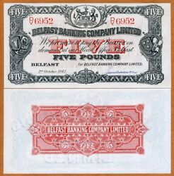 Ireland Northern Belfast Banking Company 5 pounds 1942 Hand Signed P