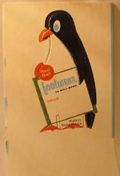 Red Ball Footwear Cardboard Penguin Ball Band Shoe Store Display Ad Sign 1950s