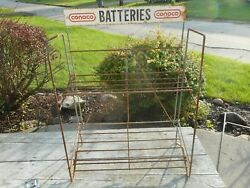 Vintage Rare Htf Conoco Batteries Advertising Battery Gas Station Display Rack