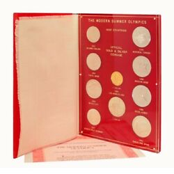 Modern Summer Olympics Gold And Silver Set 10 Coins Numbered Folder Coa
