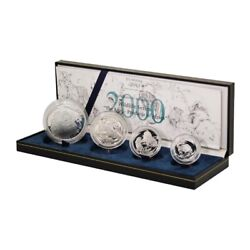 South Africa Widlife Series The Lion Silver Proof Set 2000 4 Coins Mint Box And Co
