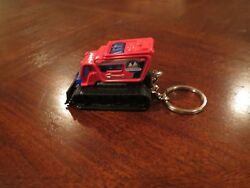 Arctic Ice Snow Truck Plow Diecast Model Toy Car Keychain Keyring New Red
