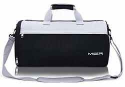 MIER Barrel Travel Sports Bag for Women and Men Small Gym Bag with Shoes