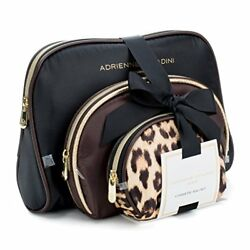 Adrienne Vittadini Cosmetic Makeup Bags: Compact Travel Toiletry Bag Set in and
