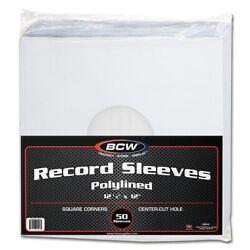 Case Of 1000 Bcw Polylined Paper 33rpm Lp Album Record Inner Sleeves Poly Lined