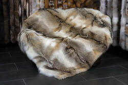 2105 Canadian Coyote Fur Throw -