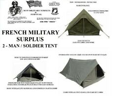 NEW French Military Surplus 2 Man F1 Pup Tent Backpacking Shelter Integral Fly $60.99
