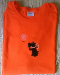 Scottie Scotty Dog Orange ss Ladies Tee Spider
