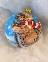 Cairn terrier Hand Painted Ornament  By  Darci