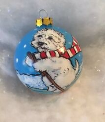 Westie terrier Hand Painted Ornament  By Darci