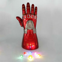 Kid Size Infinity War Gauntlet Glove w LED Light Stone Cosplay Iron Man Avengers
