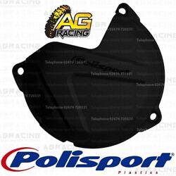Polisport Black Clutch Cover Protector For KTM EXC SX Freeride Husqvarna TE TC