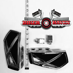 Kuryakyn Chrome Phantom Mini Floorboard And Adapters Front Honda Gold Wing And03901-and03919