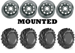 Kit 4 High Lifter Outlaw MST 27x9.5-1227x12-12 on ITP Delta Steel Silver ACT