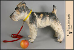black forest carved wood dog scotty italy