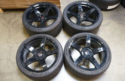 20 Project 6gr5 Gloss Black Wheels And Michelin Tires Ford Mustang S550 S197