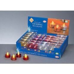 NEW Christmas Pack Of 4 Tea Lights Red-Gold-Silver - Premier Decorations