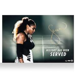 Serena Williams Signed Artwork History Has Been Served Autograph