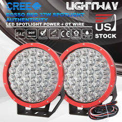 9 inch 2x LED Round Driving Lighs Round Headlight ATV Offroad  w