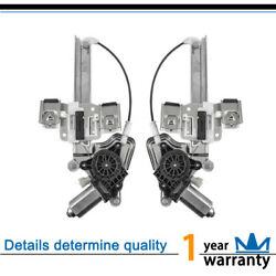 2pc New Front L+R Power Window Regulator wMotor Fit 01-03  Oldsmobile Aurora