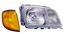 Headlight Assembly Right Mercedes S320 S Class 140.032 1992 - 1994
