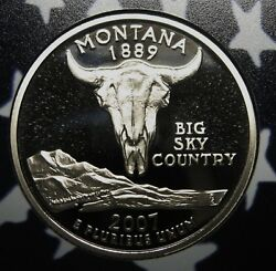 2007-s Montana Gem Dcam Clad Proof State Quarter Stunning Coin Priced Right