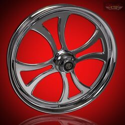 2008-2019 Harley Chrome 23 Inch Front Wheel And Floating Rotors Maltese