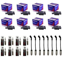 8 ACDelco BS-C1511 Ignition Coils+8 4469 Spark Plugs+8 Plug Wires wHeat Shields