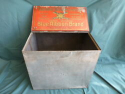 Bower And Bartlett's Favorite Boston Coffee Blue Ribbon Red Shield Store Tin