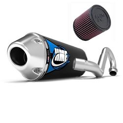 Hmf Competition Comp Full System Exhaust Elliptical + Kandn Air Filter Trx 450r