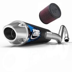 Hmf Competition Comp Full System Exhaust Pipe + Kandn Air Filter Yfz 450 2004-2013