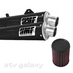 Hmf Can Am Brp Renegade 800 2012 2013 Black Dual Slip On Exhaust Muffler And Kandn