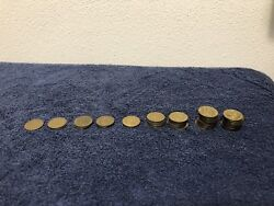 Lot Of Chuck E Cheese Tokens From 2000 To 2010 Total Of 52 Coins