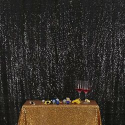 3e Home 4FT x 6FT Sequin Photography Backdrop Curtain for Party Decoration