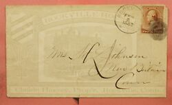 1887 Rockville House Hotel Allover Advertising Ct Connecticut