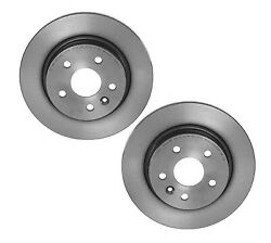 For Ford Mercury Pair Set of 2 Rear Brake Disc Rotors Solid 302 Coated Brembo