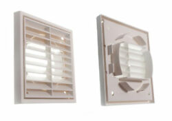 Pkt Of 100 X Louvre Air Vent Ventilation Grille Exterior Or Interior Use 100mm