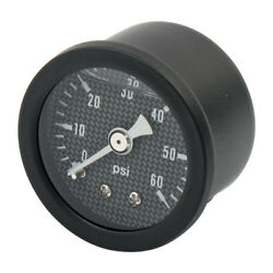 Marshall Black 0-60 Psi Oil Pressure Gauge With Carbon Fibre Effect Face