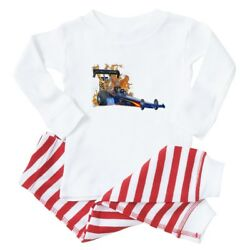 CafePress Flaming Top Fuel Baby Toddler Pajama Striped Pants Set  (352324075)