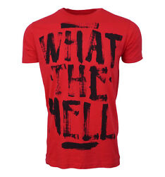 Abbey Dawn What the Hell Mens Red T shirt