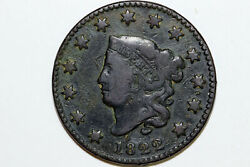 Very Fine 1822 N.6 Liberty Coronet Or Matron Head Large Cent Coin Lrg647