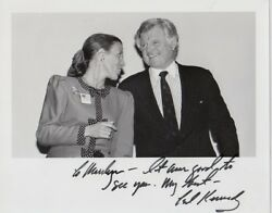 Ted Kennedy Signed Photo With Second Lady Marilyn Quayle