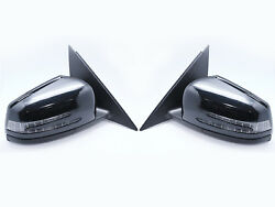 Led Assembly Door Mirrors For Mercedes Benz W204 - Facelift Black Painted