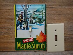 Vintage Maple Syrup Tin Light Switch Plate Cover For Rustic Farmhouse Decor