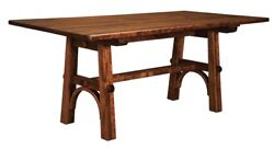 Amish Arts And Crafts Narrow Rectangle Dining Table Wood 36 X 72 42 X 72